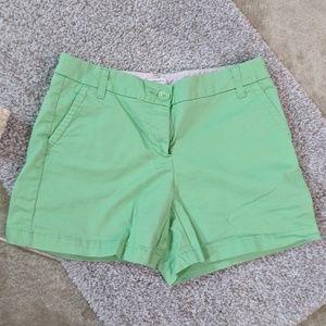 crown & ivy Green Khaki Button Shorts, 4
